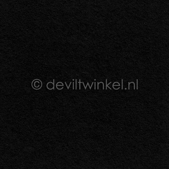 Wolvilt Zwart, 45 cm breed, per halve meter.