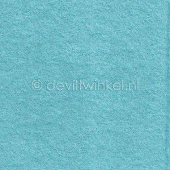 Wolvilt Ijsblauw -  90 bij 100 cm