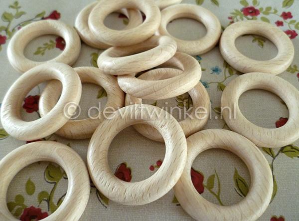 Beukenhouten ring, 34 mm