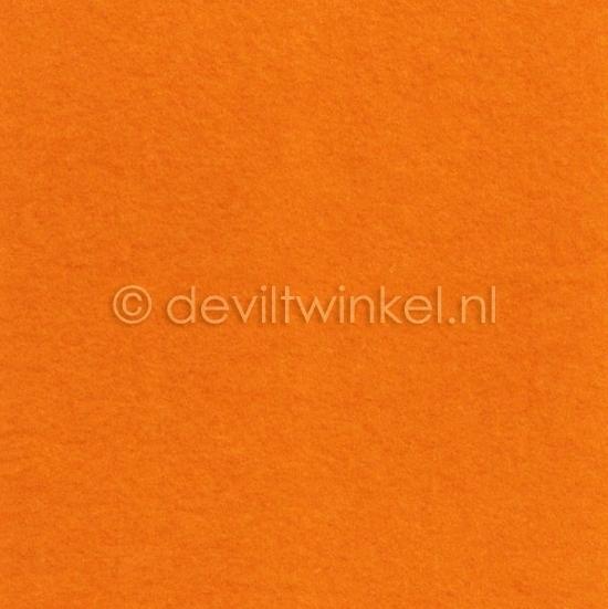 Wolvilt Licht Oranje -  90 bij 100 cm