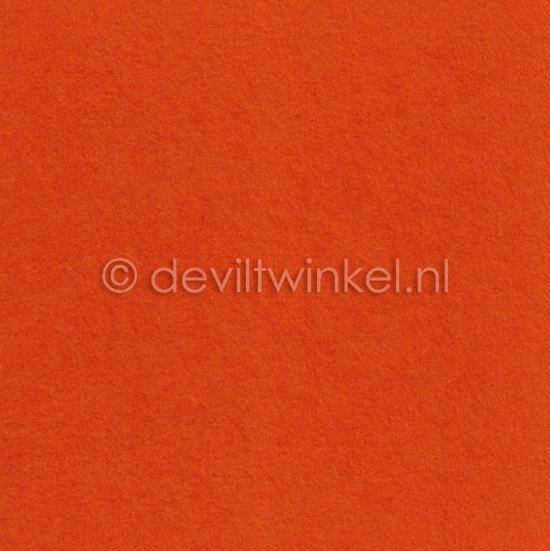 Wolvilt 3 mm, Oranje, 22 bij 30 cm
