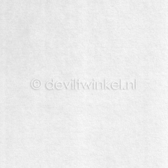 Wolvilt Wit 20 bij 30 cm.