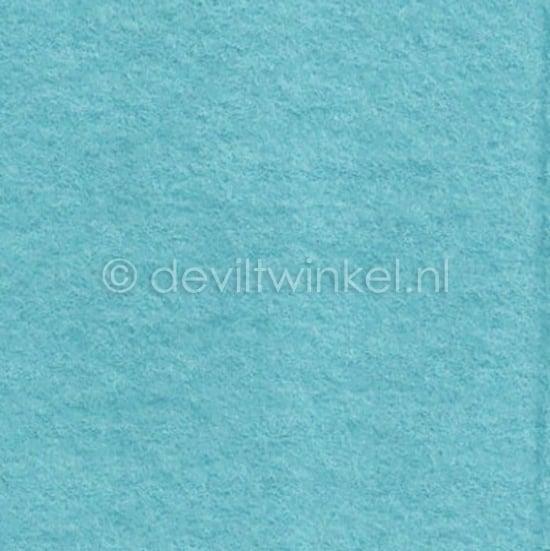 Wolvilt Ijsblauw - 45 bij 90 centimeter