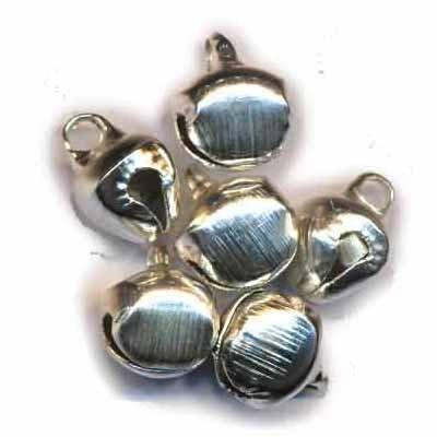 Belletjes, Zilver, 10 mm, 10 stuks