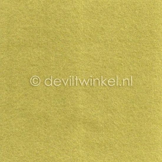Wolvilt Geelgroen - 45 bij 90 centimeter