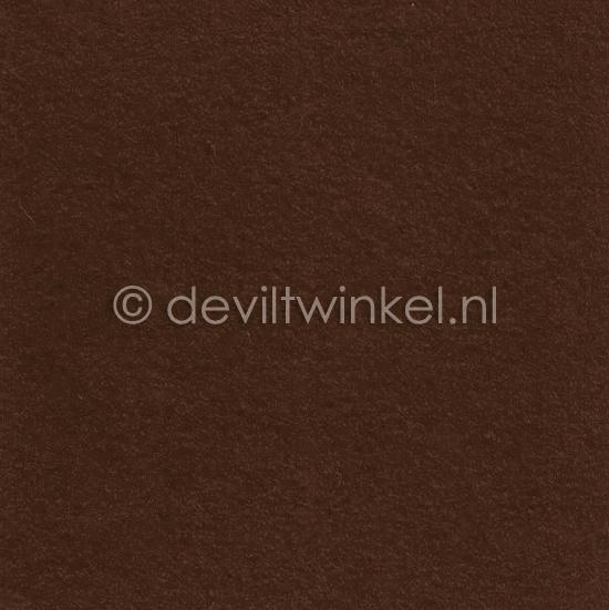 Wolvilt (1 mm dik) Bruin - 45 bij 70 centimeter