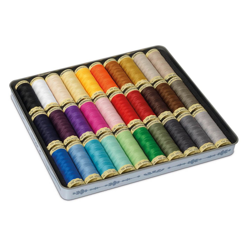 Gütermann Nostalgiedoos, 30 kleuren