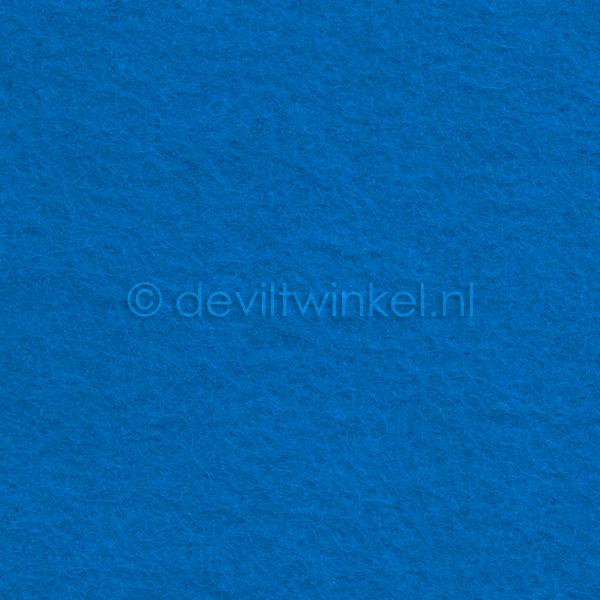 Wolvilt 3 mm, Donker Aqua, 22 bij 30 cm