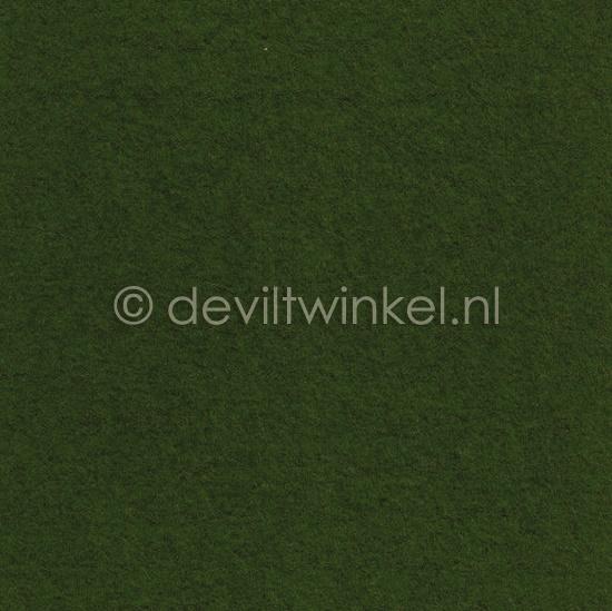 Wolvilt Donker Bladgroen - 45 bij 90 centimeter