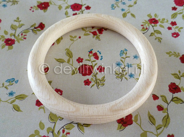 Beukenhouten ring, 100 mm