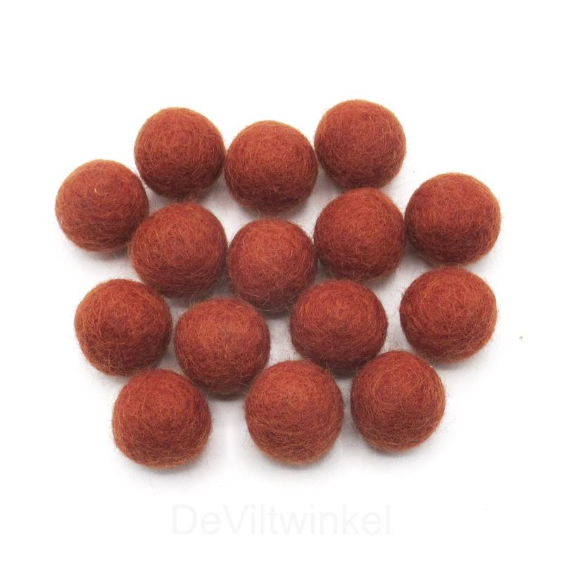 Wolkralen: Roodbruin 2,2 cm