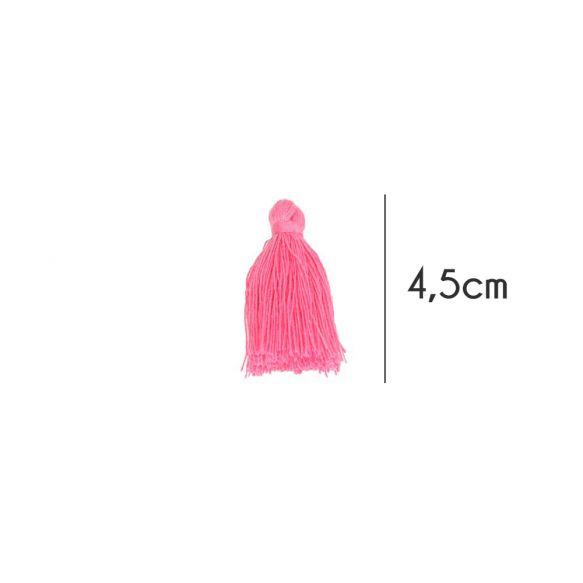 Kwastjes mat, 4,5cm, Hard roze