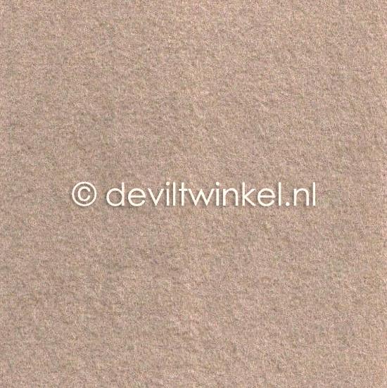Wolvilt Donker Beige - 45 bij 90 centimeter