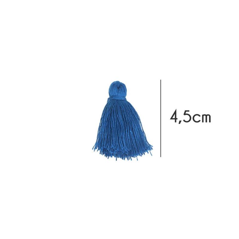 Kwastjes mat, 4,5cm, Kobalt blauw