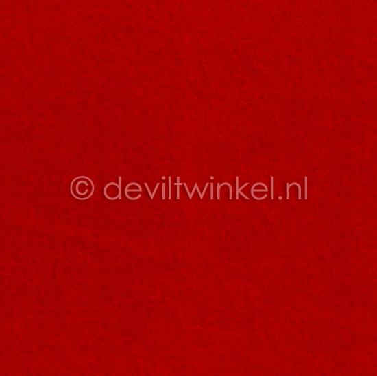 Wolvilt 3 mm, Rood, 22 bij 30 cm