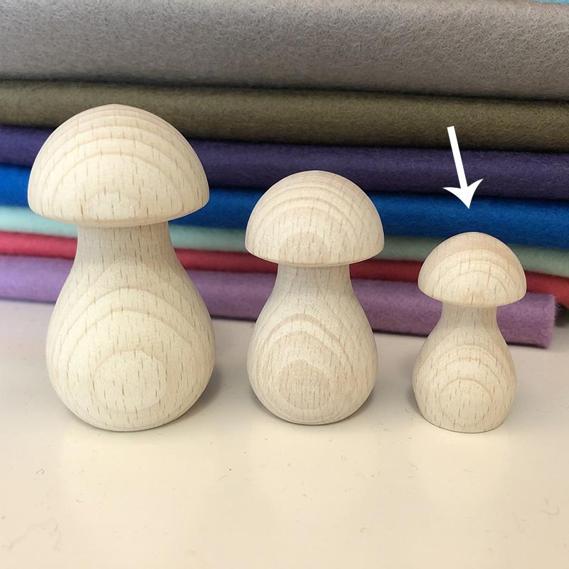 Houten paddenstoel - 39x20 mm