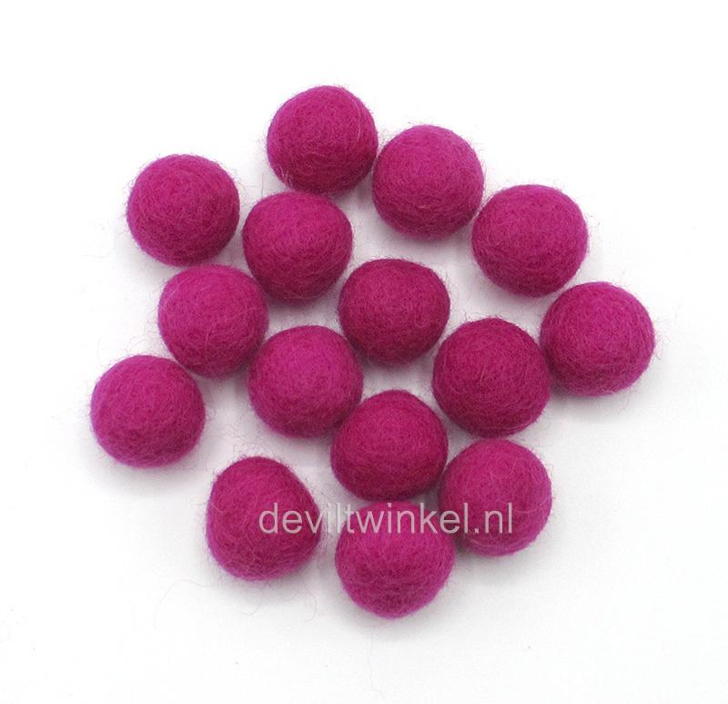 Wolkralen: Framboos Roze 2,2 cm