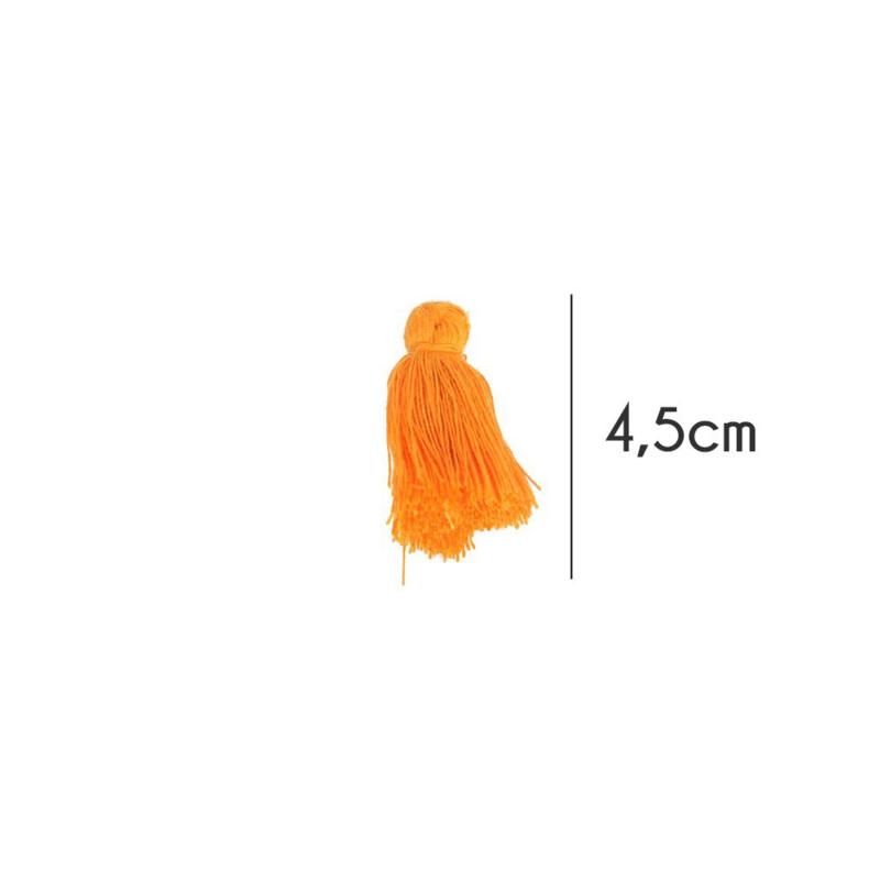 Kwastjes mat, 4,5cm, Oranje