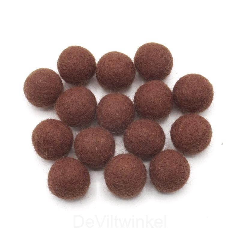 Wolkralen: Bruin 2,2 cm