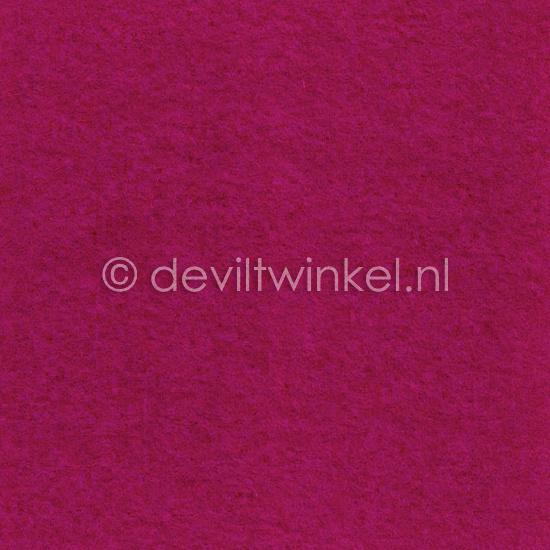 Wolvilt Framboos Roze 20 bij 30 cm.