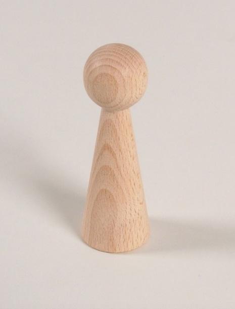 Houten kegelpoppetje - taps - 90x30 mm