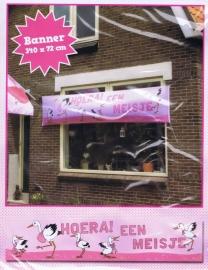 Banner Hoera een Jongen/Meisje