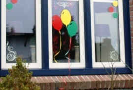 Raamdecoratie Ballon