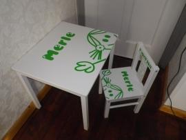 Tafel en stoel set standaard afbeelding