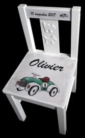 Kinderstoel met naam race auto