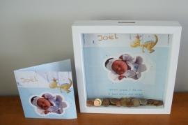 3D Spaarpot naar aanleiding van geboortekaartje