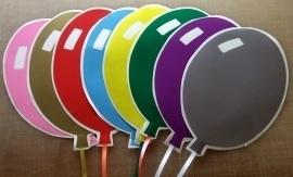 Raamdecoratie Ballon ( per 3 stuks )