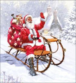 Santa On Sledge nr.k68