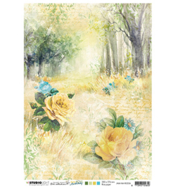MA Rice paper Forest road & roses New Awakening nr.06