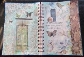 Art Journal met servetten en ricepapers