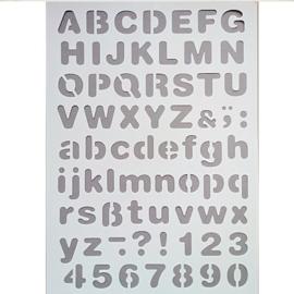 Letter sjabloon alfabet rond