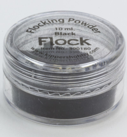 Flock powder zwart