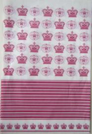 Decoupage papier met kroontjes