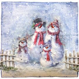 Sneeuwpop familie