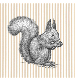 Etching Squirrel lines nr1106