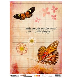 JL Rice Paper Butterfly Collection nr.22