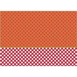 Decoupage papier oranje/rood