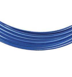 Aluminium draad vlak , blauw