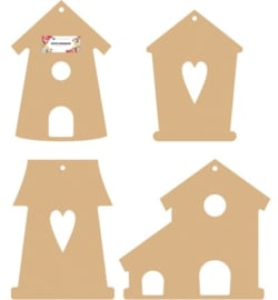 Mdf bird houses set