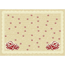 Decoupage papier met rozen