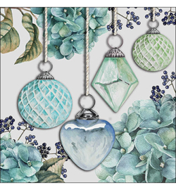 Hanging Baubles Green nrk356