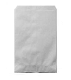 Papieren kraft zakjes wit 7x13cm
