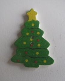 Houten knoop kerstboom