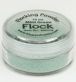 Flock powder mint green
