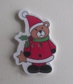 Houten kerstknoop beertje