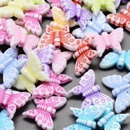 20 stuks vlinders kralenmix